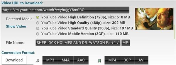 сравнение размера MP4 в зависимости от разрешения видео